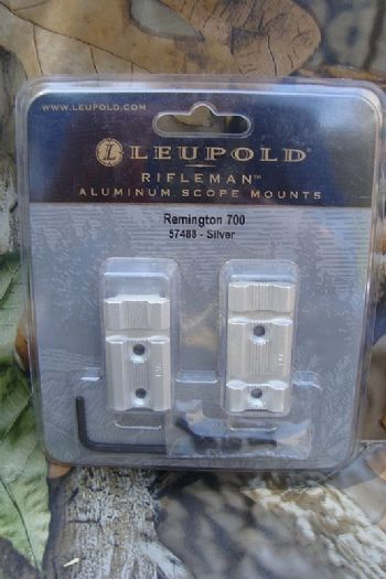 Leupold Rifleman 2pc Weaver Base for Remington 700,Howa 1500,Weatherby Vanguard - Silver
